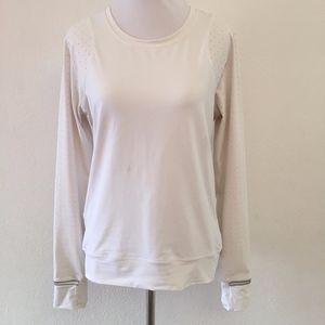 Lululemon White Long Sleeve Reflective Shirt 6